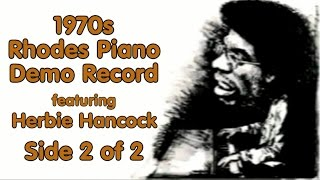1970s Fender Rhodes Piano Demo Record featuring Herbie Hancock Side 2