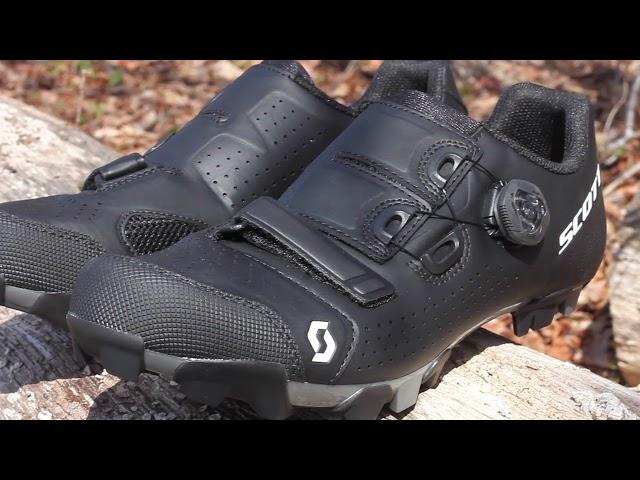 Видео Велотуфли Scott MTB Team Boa (Beige/Black)