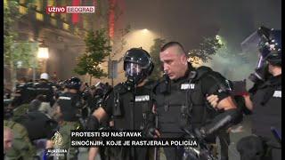 Dosta povrijeđenih policajaca, na ulicama antiteroristička jedinica