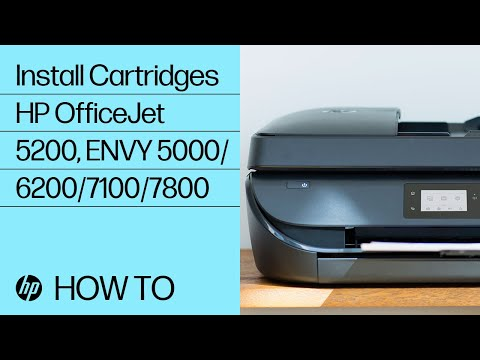 Installing Ink Cartridges in the HP OfficeJet 5200 and ENVY 5000, 6200, 7100, and 7800 Printer Series