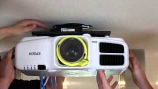 Installing the Epson Pro Cinema G6550WU Projector and Screen Innovations SLATE