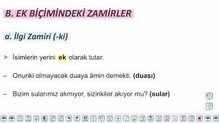 Eğitim Vadisi TYT Türkçe 15.Föy Zamirler - 2 Konu Anlatım Videoları