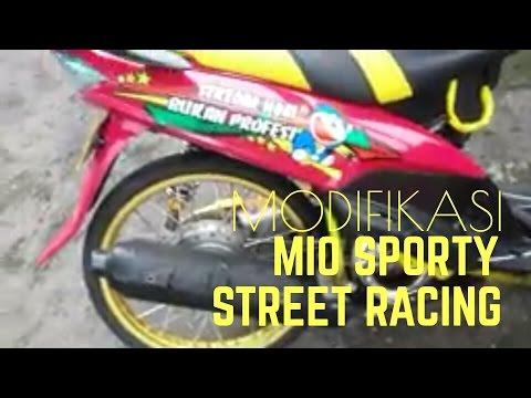 Video Modifikasi Yamaha Mio Sporty 2010 STREET RACING SIMPLE PINK + VELG RING 17 JARI JARI TERBARU
