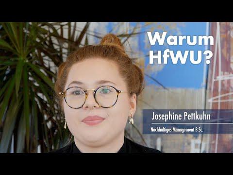 Thumbnail YouTube Video mit Foto der Studentin und der Frage: Warum studierst Du an der HfWU?