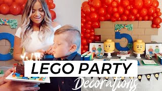 LEGO BIRTHDAY PARTY: PREP WITH ME, AMAZON DECORATIONS, FIREWORKS FINALE
