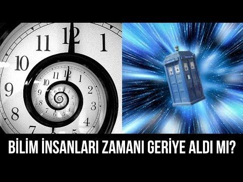 Bilim insanları zamanı geriye aldı mı?