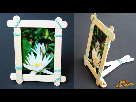 How To Make A Popsicle Stick Picture Frame Balbur