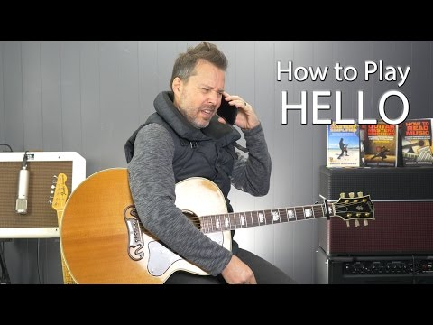 How to Play Hello by Adele - Guitar Tutorial