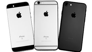iPhone 7 vs. iPhone 6S vs. iPhone SE - СРАВНЕНИЕ ЛУЧШИХ!