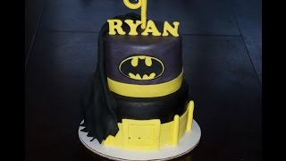 Cake Decorating Tutorial | How To Make A Batman Fondant Logo | Sugarella Sweets