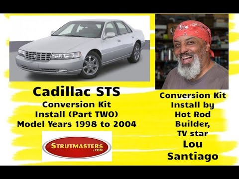 1994 Cadillac STS With A Strutmasters Air Suspension Conversionl (Part 2 of 3 Install Video)