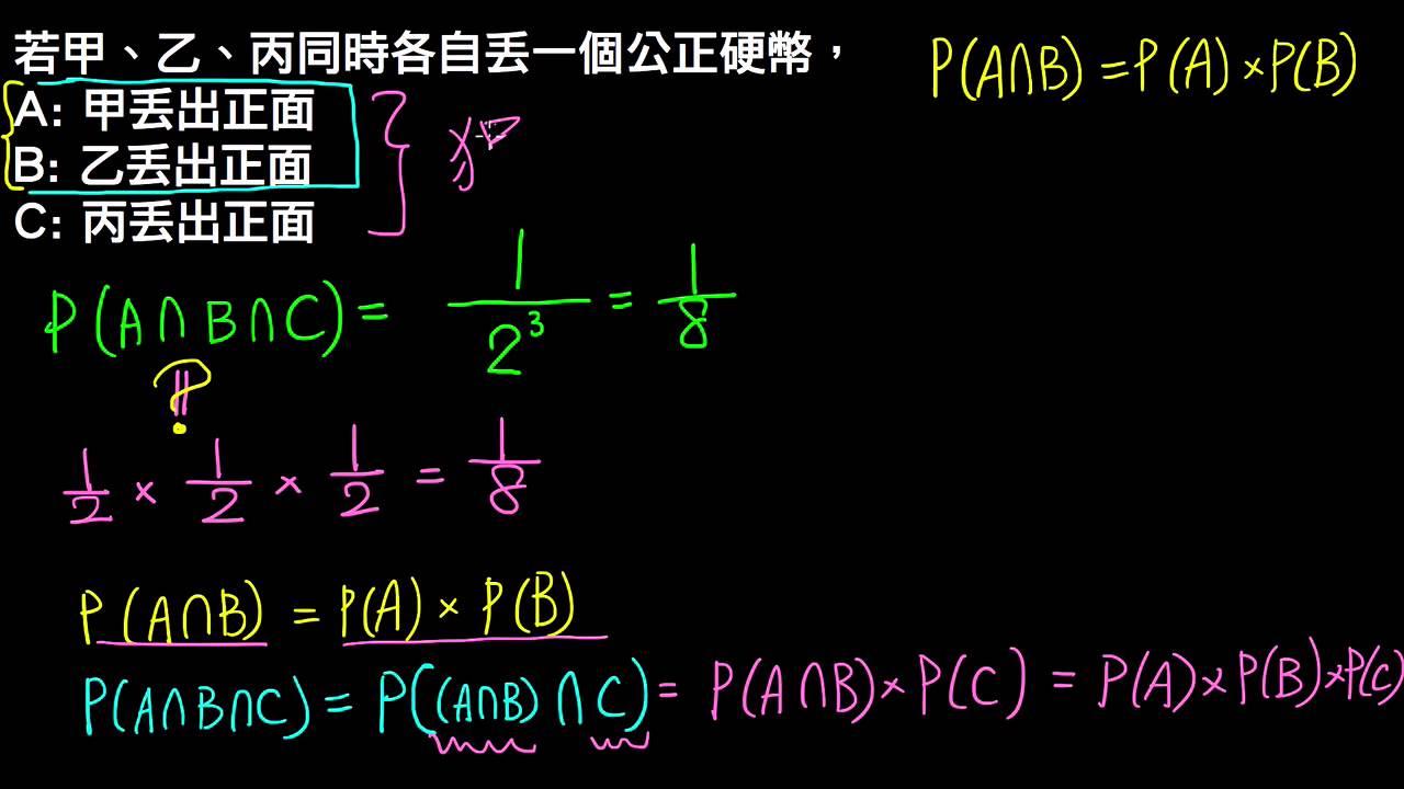 高一下數學3-3B觀念05三個事件獨立   條件機率與貝氏定理   均一教育平臺