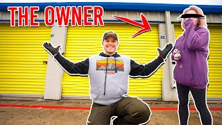I Bought An Abandoned Storage Unit - Owner Shows Up (Surprise Ending)