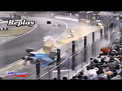Akihiko Nakaya Big Crash 1992 All Japan F3000