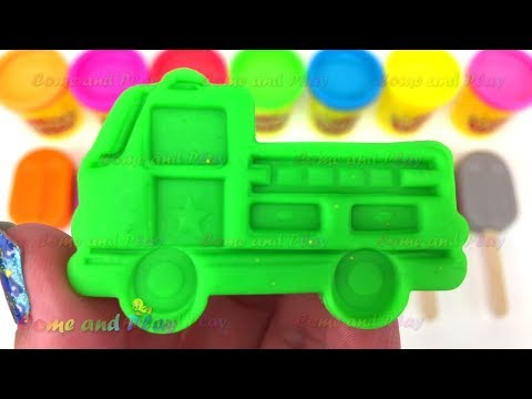 Learn Colors Play Doh Popsicle Ice Cream ELMO Peppa Pig Disney Molds Candy Surprise Toys For Kids