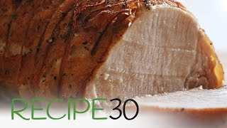 Cooking A Simple Herb Roast Pork In A French Cottage