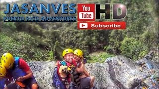 preview picture of video 'Climbing 492 Feet to the top of San Cristobal Canyon, Puerto Rico'