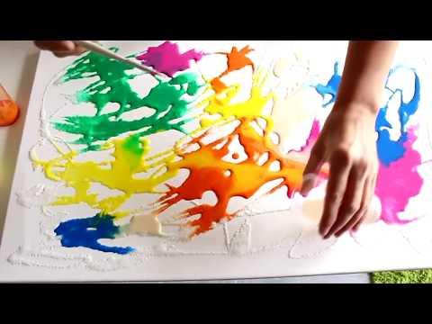 Kunst Malerei - Abstraktes schönes Bild selber machen !