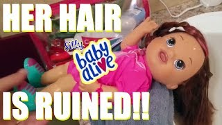HOW TO FIX (Restore) DOLL HAIR!  Frizzy, Matte, Knotted Baby Alive Hair