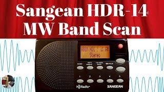 Sangean HDR-14 HD Portable Radio MW Band Scan