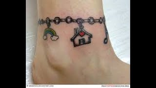 Awesome Girls Anklet Tattoos Ideas