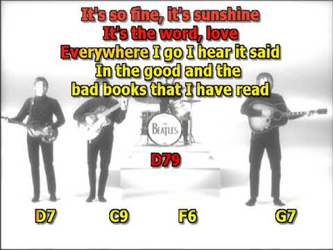 The word Beatles best karaoke instrumental lyrics chords cover
