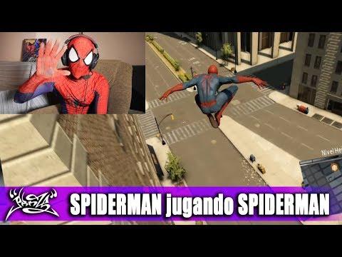 SPIDERMAN PROBANDO SU JUEGO (The Amazing Spiderman 2)
