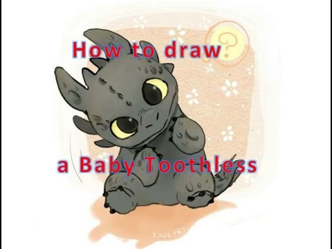 How to Draw Night Fury (Baby Toothless) - Animated Cartoon Character