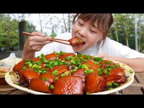 """月初改善生活,秋妹給弟弟做""""毛氏紅燒肉""""改善生活,肥而不膩真過癮! 【顏美食】"""