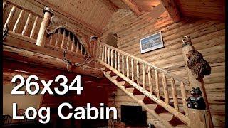 26x34 Log Cabin, Swiss Chalet