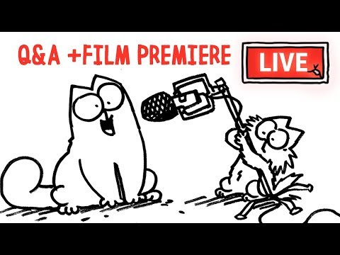 New short PREMIERE and Q&A with Simon! – Simon's Cat | LIVE