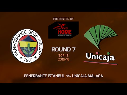 Highlights: Top 16, Round 7, Fenerbahce Istanbul vs. Unicaja Malaga