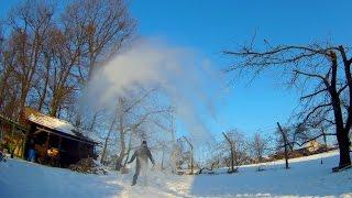 Vroča voda in minus 10 stopinj C
