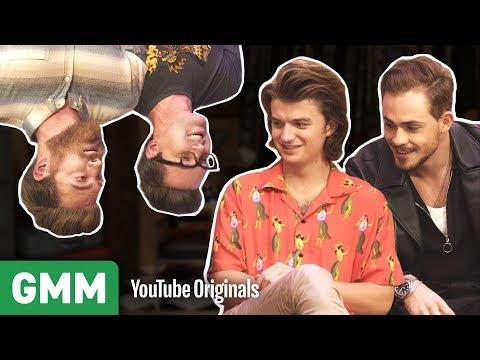 Upside Down Interview w/ Stranger Things' Joe Keery & Dacre Montgomery