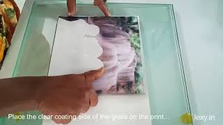 Glass Print With 3D Effect