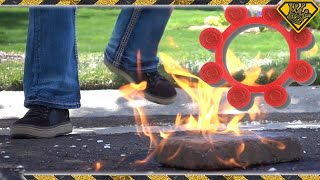 Will Toy Caps Ignite Gasoline?