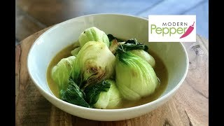 CRUNCHY & JUICY Sauteed Baby Bok Choy Recipe - Modern Pepper Recipe #2