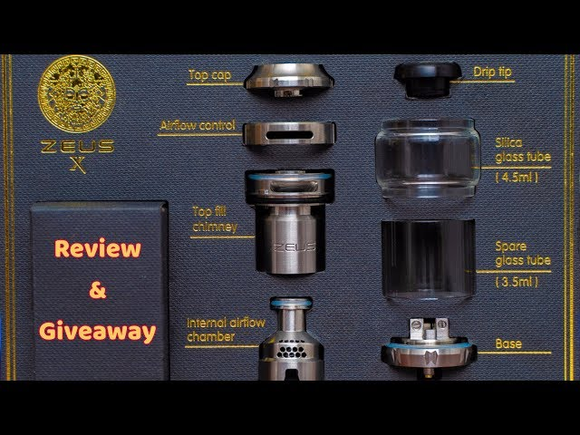 GeekVape Zeus X RTA Review, build Tutorial & Chance to Score