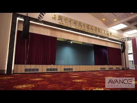 Wisma Hua Zhong stage motorized system