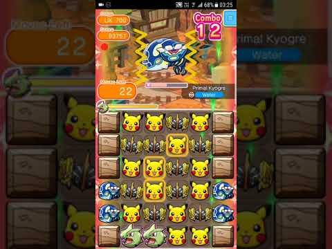 Pokemon Shuffle Mobile UX Stage 700 Primal Kyogre S Rank『ポケとる スマホ版』