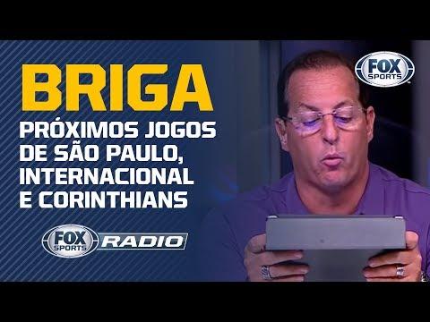 BRIGA PELA LIBERTADORES! Próximos jogos de São Paulo, Internacional e Corinthians