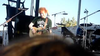 Ed Sheeran smiling at my camera