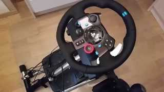 Logitech G29 G920 Setup Video Wheel Pedal And Wire Fastening