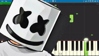 Marshmello Ft. Roddy Ricch   Project Dreams   Piano Tutorial