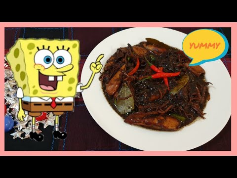 SIMPLE AND EASY SPICY ADOBONG PUSIT/EASY COOKING RECIPE/PANLASANG PINOY