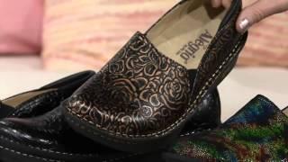 Alegria Leather Printed Slip-on Shoes - Debra Pro on QVC