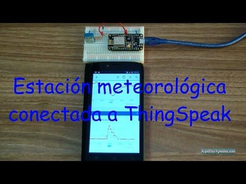 Estación meteorológica conectada a ThingSpeak