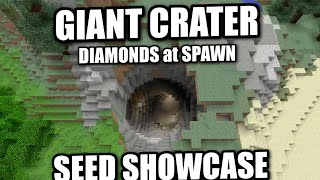 Minecraft PS4 - GIANT CRATER / DIAMONDS AT SPAWN - SEED SHOWCASE ( PS3 / XBOX / WII U )