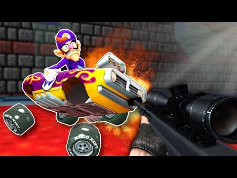 MARIO KART RACING | Garry's Mod Mario Kart Mod | New Vehicles and