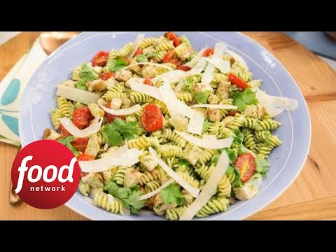 How to Make Marcela's Cilantro Pesto Pasta Salad | Food Network
